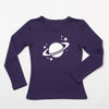 Sample Sale: Saturn Long Sleeve T-Shirt - Glow in the Dark on Purple