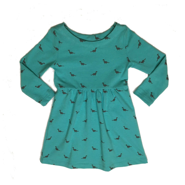 Apatosaurus Long Sleeve Dress