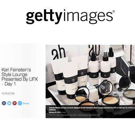 Getty Images online features Amanda Blakley Skincare