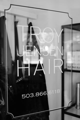 Troy Jensen Hair Salon Door