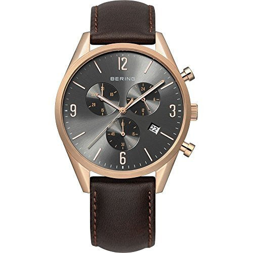 bering time 10542 562 men s classic collection watch with leather band