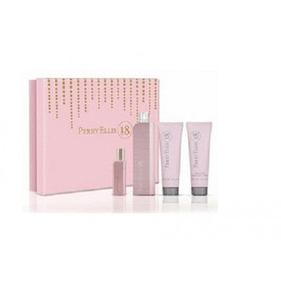 Perry Ellis 18 EDP 100ml Gift Set For Women - MyPerfumeShopNG