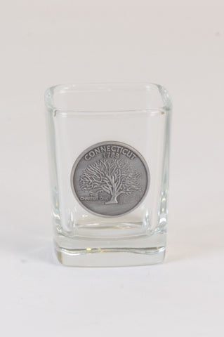 Charter Oak State Quarter Shot Glass