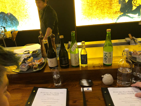 European chefs discovering the delights of sake