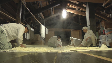 Sake making the koji part