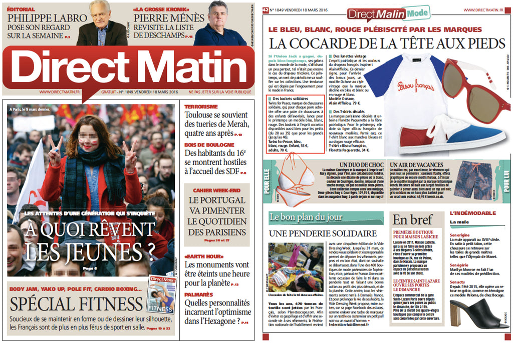 Direct matin Twins for Peace