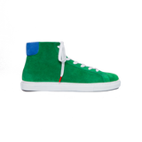 Alex High Top Suede Green Blue - SUEDE SNEAKERS