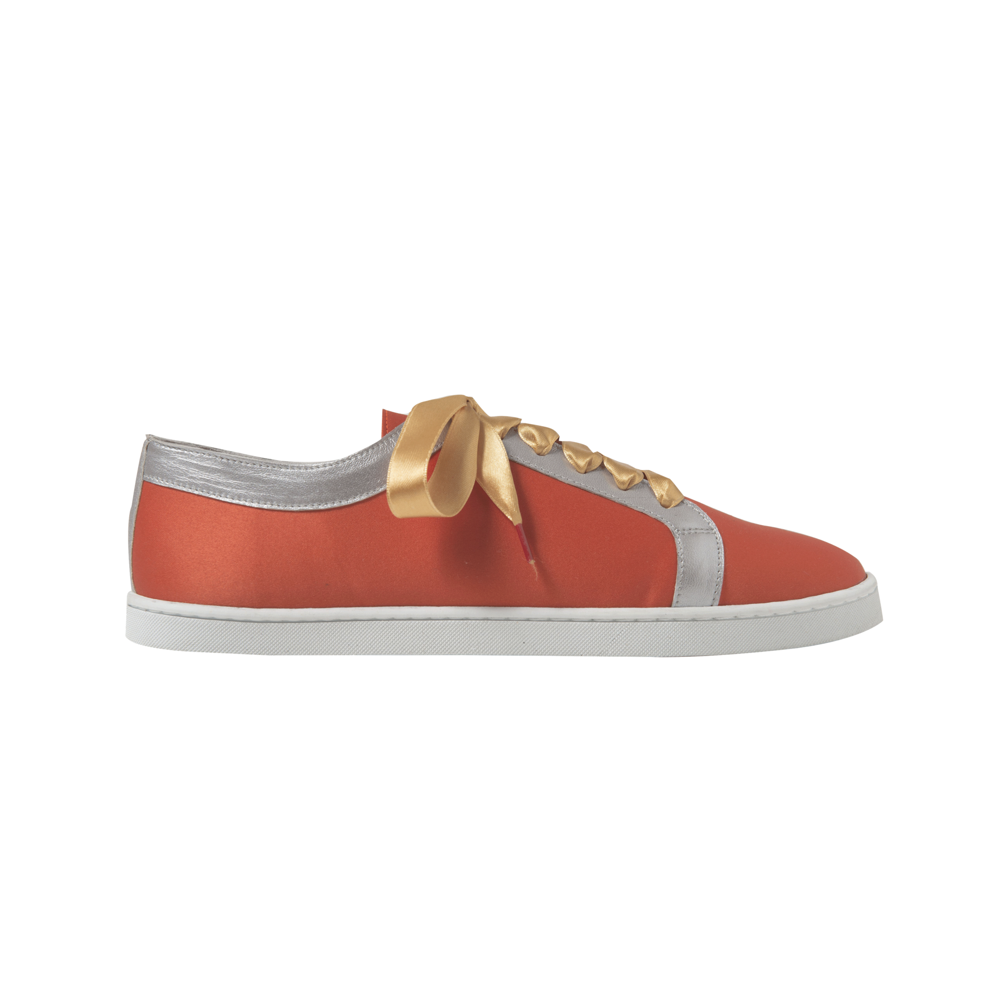 Boubou Silk Orange - SILK SNEAKERS