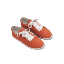 Load image into Gallery viewer, Boubou Suede Orange Snake - SUEDE SNEAKERS