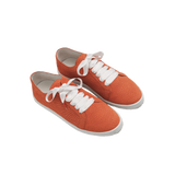 Boubou Suede Orange Snake - SUEDE SNEAKERS