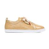 BOUBOU CROCO - CHAMPAGNE PATENT LEATHER SNEAKERS