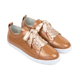 BOUBOU CROCO - CARAMEL PATENT LEATHER SNEAKERS