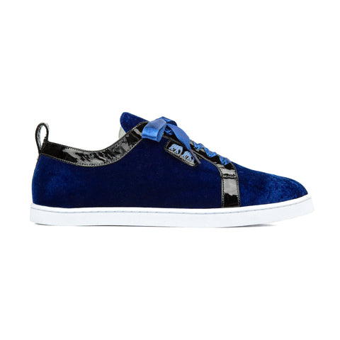 BOUBOU VELVET ROYAL BLUE - SNEAKERS