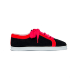 Boubou Suede Black Red - SUEDE SNEAKERS