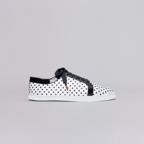 Boubou Silk White Dots - SILK SNEAKERS