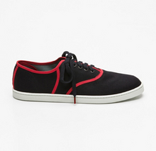 Load image into Gallery viewer, Classic Black Red - CANVAS SNEAKERS