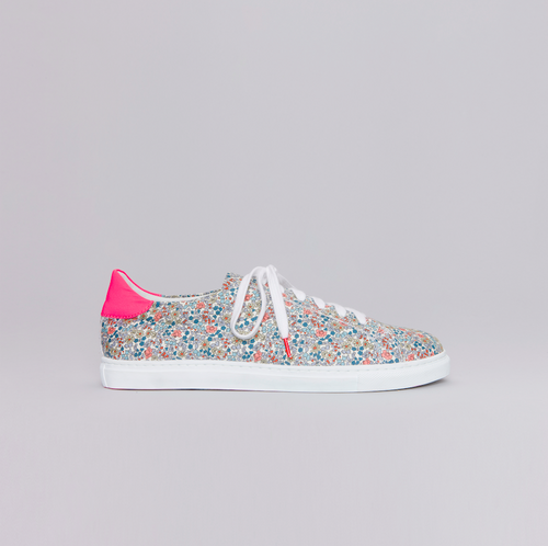 Alex Flowers Grey Fuchsia - CANVAS SNEAKERS