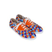 Load image into Gallery viewer, Gacha Inca - TRICOLOR BEADS AND ORANGE LEATHER SNEAKERS FOR WOMEN