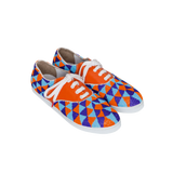 Gacha Inca - TRICOLOR BEADS AND ORANGE LEATHER SNEAKERS FOR WOMEN
