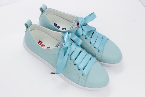 Boubou Leather Mint - LEATHER SNEAKERS