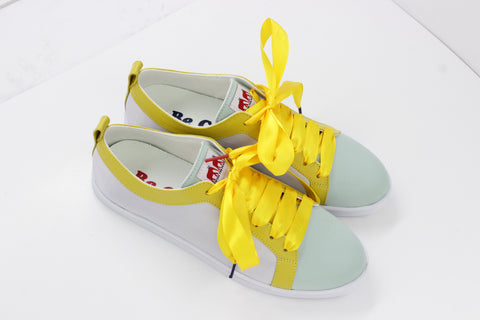 Boubou Silk Yellow Mint - SILK SNEAKERS