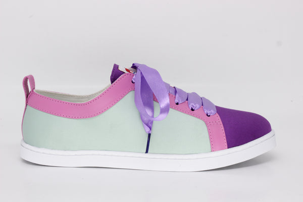Boubou Silk Mint Purple - SILK SNEAKERS