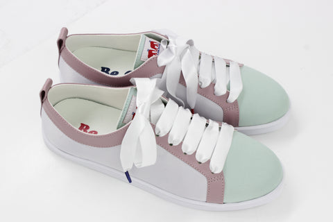 Boubou Silk White Mint - SILK SNEAKERS