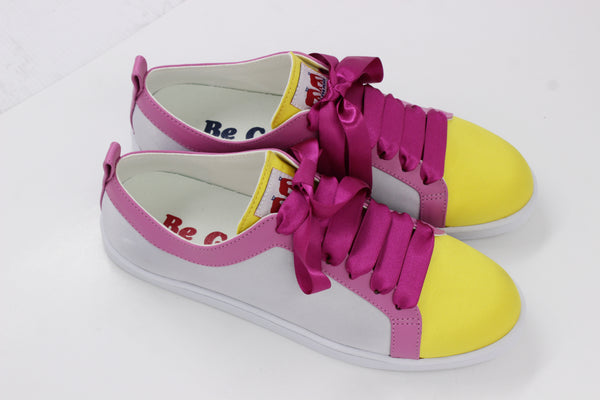 Boubou Silk Yellow Pink - SILK SNEAKERS