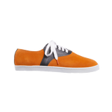 Lucho Suede Orange Leather Black - SUEDE SNEAKERS