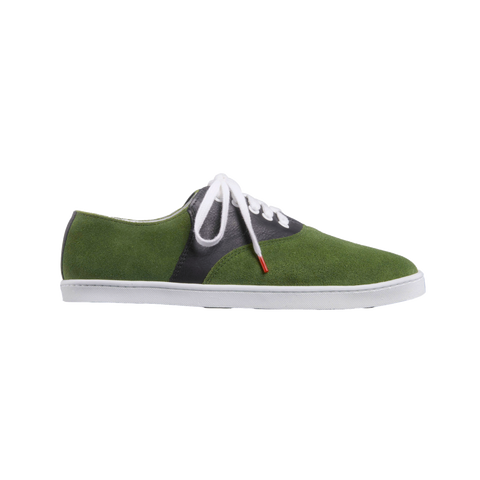 Lucho Suede Green Leather Black - SUEDE SNEAKERS