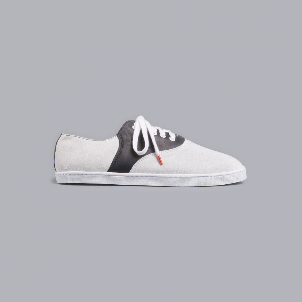Lucho Suede Off White Leather Black - SUEDE SNEAKERS