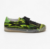 Monsieur Madone Alex Green - PRINTED CANVAS SNEAKERS