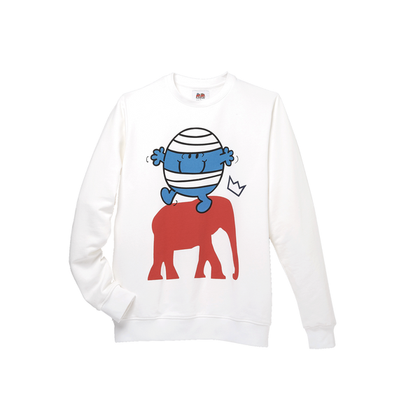 Sweatshirt Mr. Men Little Miss - WHITE MR. BUMP COTTON SWEATSHIRT