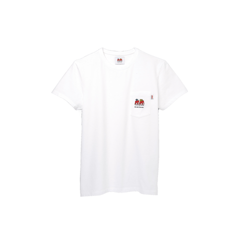 T Shirt Mr. Men Little Miss -  WHITE COTTON T SHIRT WITH A POCKET