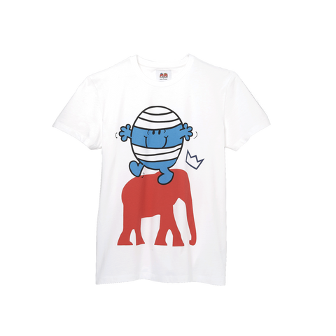 T Shirt Mr. Men Little Miss - WHITE MR. BUMP COTTON T SHIRT