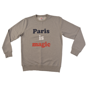 Sweatshirt Paris is Magic - GREY COTTON SWEATSHIRT