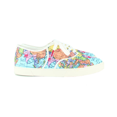 Classic Map Twins - PRINTED CANVAS SNEAKERS