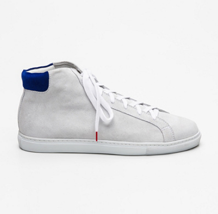 Alex High Top Suede Off White Blue - SUEDE SNEAKERS