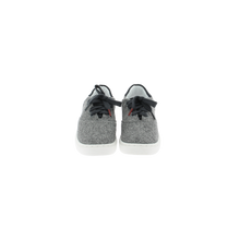 Load image into Gallery viewer, gray wool sneakers with white natural gum sole and gray cotton laces - front view