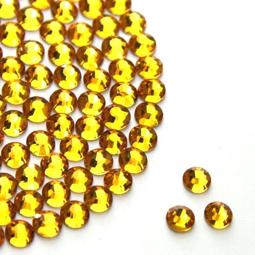 Golden Glass Rhinestone (Glue on)