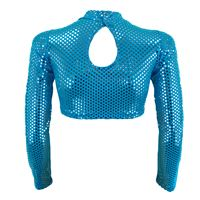 Load image into Gallery viewer, Starlite Pageant Biju Polo Neck Crop Top