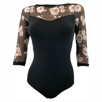 Load image into Gallery viewer, So Danca Adults RDE-1729 Floral Sleeve Leotard