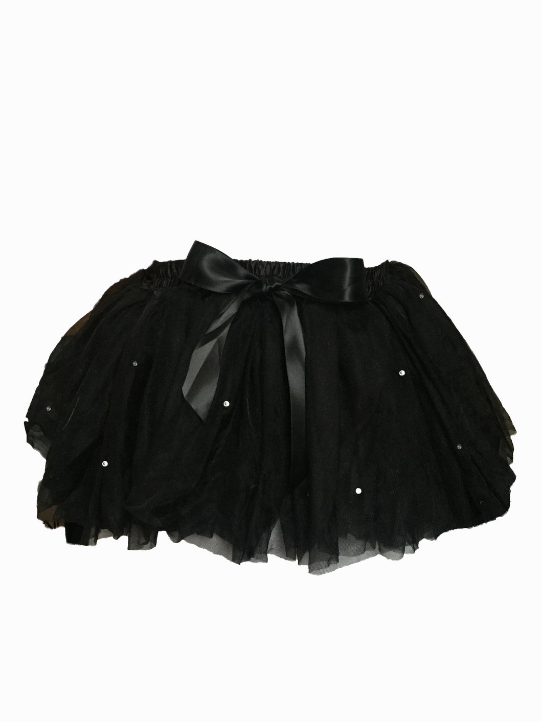 Girls Sparkly Black Tutu
