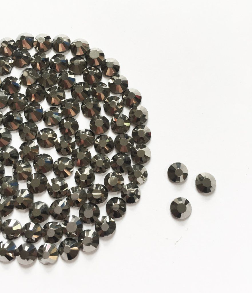 Hematite Rhinestone (Hotfix/ Iron on/Glue On)