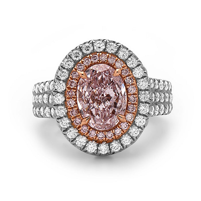 Charles Krypell Oval Pink Diamond Ring