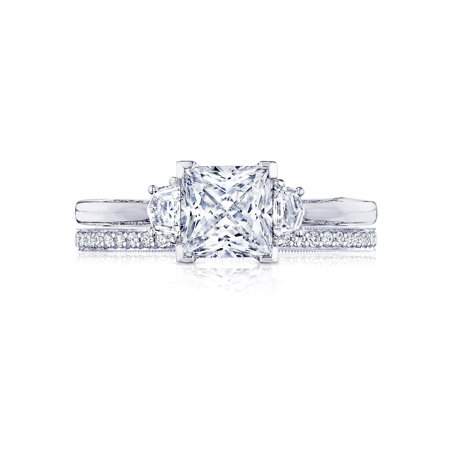 Barmakian Simply Tacori Princess Cut Diamond Engagement Ring Barmakian Jewelers