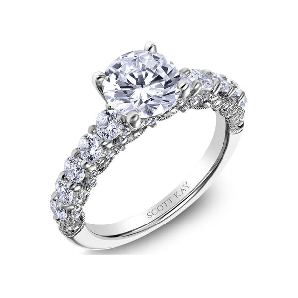 Scott Kay Heavens Gate Diamond Engagement Ring