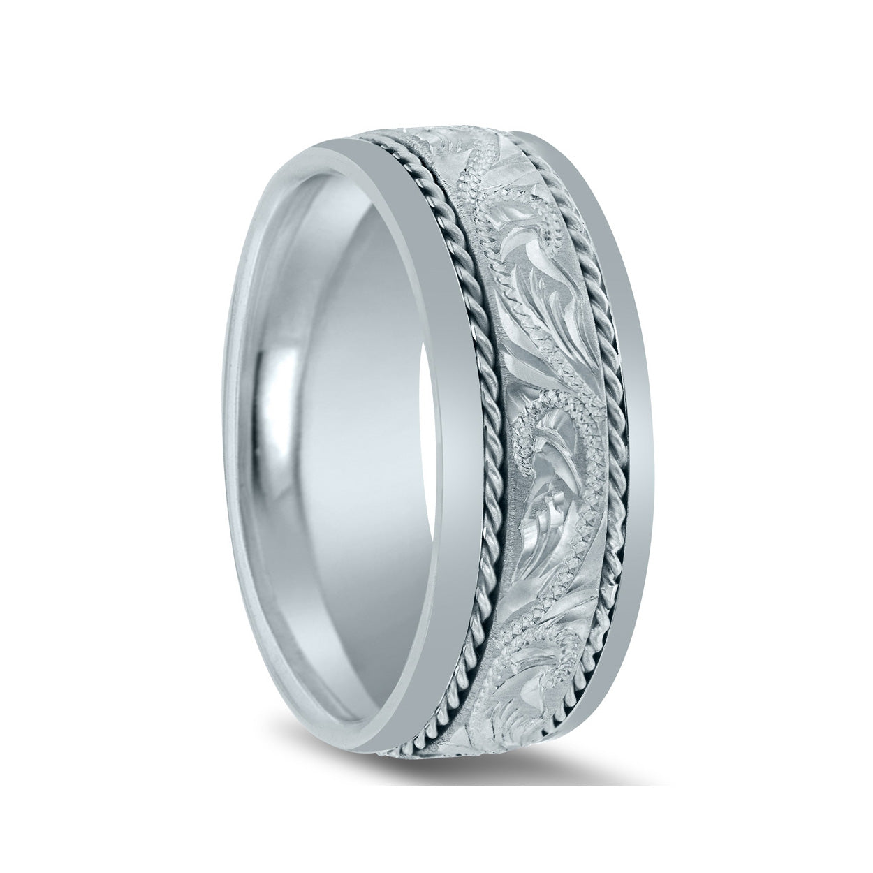 Barmakian Novell Men S Hand Engraved Wedding Rings Barmakian