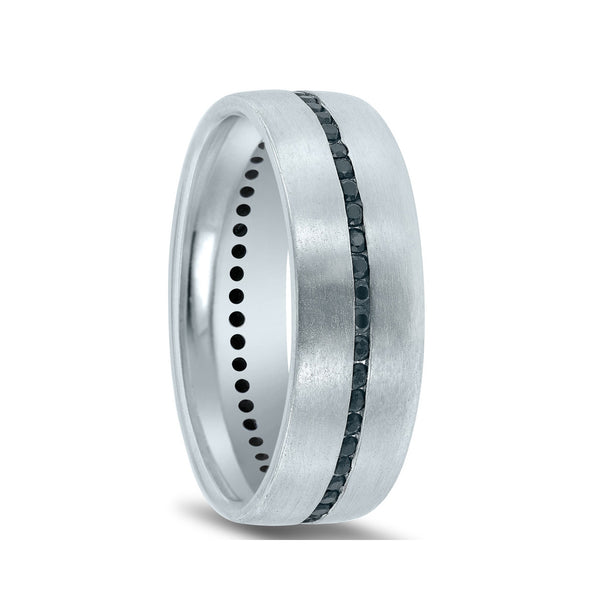 Barmakian Novell Mens Black Diamond Wedding Rings Barmakian