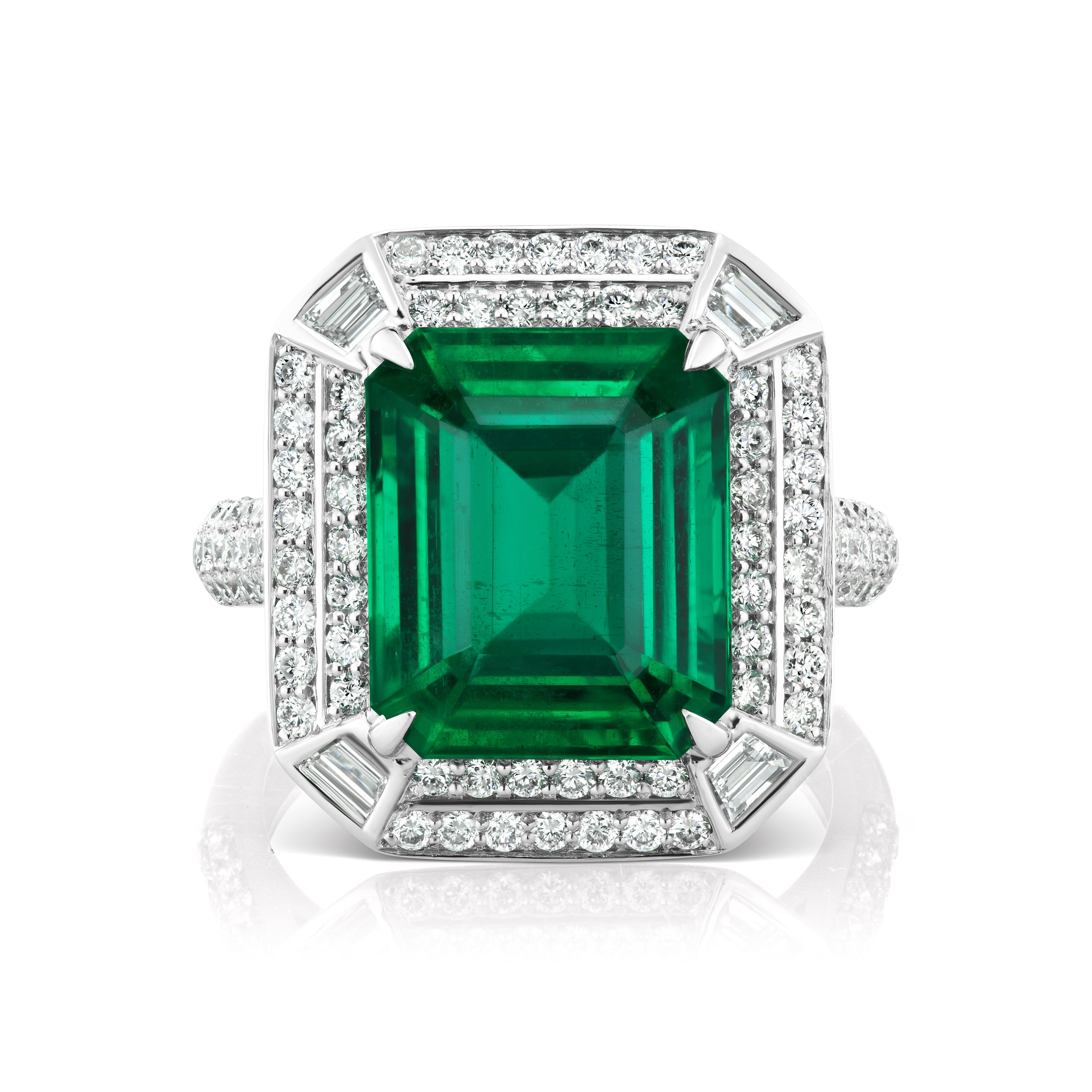 r swk stainless engagement jewelry mens ct emerald ring bling cz cut steel